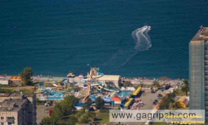 Пляж пансионата Гагрипш